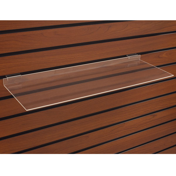 Acrylic Slatwall Shelf - 10 in. W x 4 in. D