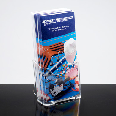 Brochure Holder For Counter Or Wall Mount For 4 W X 11 H Media