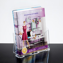 Literature Holder for Counter or Wall Mount - 8 1/2 W x 11 H Media