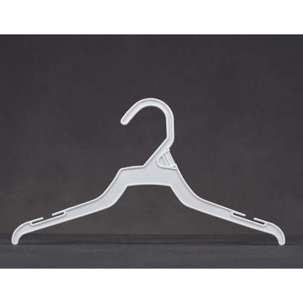 12 In White Plastic Economy Childrens Hanger - 100 Per Carton