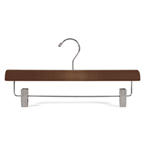 14 in. Skirt & Slack Walnut Wood Hanger