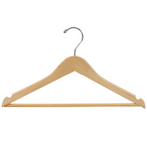 17 In. All Purpose Natural Wood Hanger