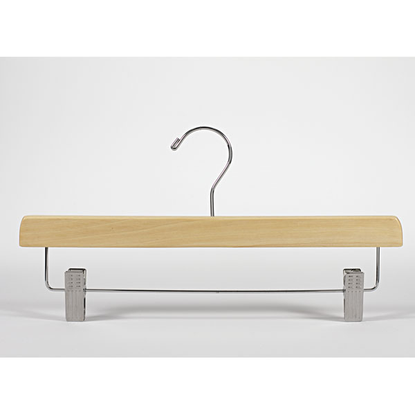 14 in. Skirt & Slack Natural Wood Hanger