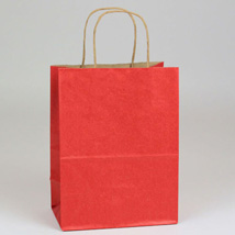 Red Paper Shopping Bag- 8 X 4.75 X 10.5 -Box Of 250