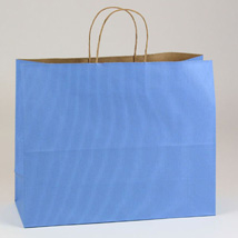 Country Blue Paper Shopping Bag- 16 X 6 X 13 - Box Of 250