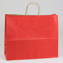 Red Paper Shopping Bag- 16 X 6 X 13 -Box Of 250