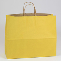 Yellow Paper Shopping Bag- 16 in. x 6 in. x 13 in.