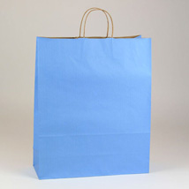 Large Country Blue Paper Shopping Bag