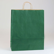 Large Forest Green Paper Shopping Bag