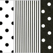 20 in. x 30 in. Black and White Assorted Tissue Paper - 240 Sheets