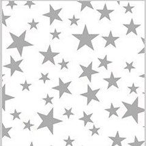 20 in. x 30 in. Silver Stars Tissue Paper - 240 Sheets