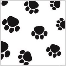 20 in. x 30 in. Paw Print Tissue Paper - 240 Sheets