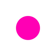 3/4 In. Pink Blank Circle Label