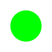 1 In. Green Blank Circle Label