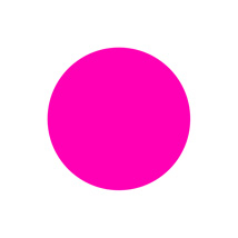 1 In. Pink Blank Circle Label