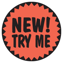 New Try Me Label