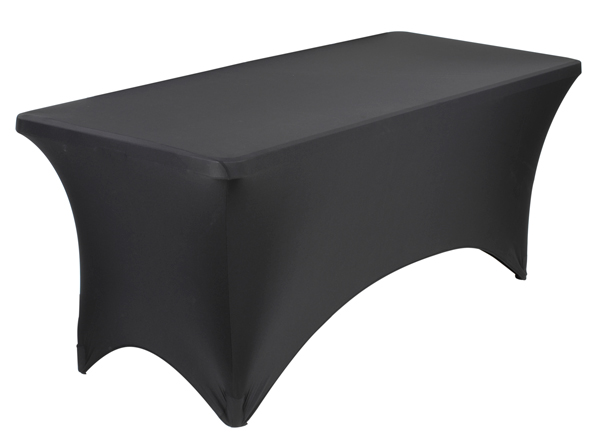 Black Stretch 6 ft. Table Cover