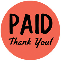 Paid Thank You Label