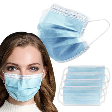 50 Pcs Disposable Face Mask 3-ply with Ear Loop