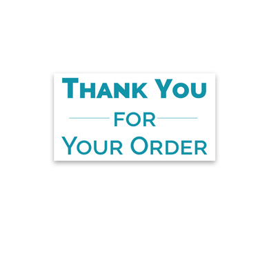Thank You For Your Order Sticker Labels - 300 per pack