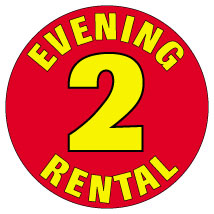 2 Evening Rental 3/4 in. Labels