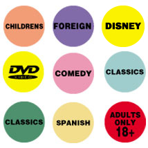 0.75 Inch Round Movie Category Video Labels