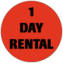 "1 Day Rental 3/4"" Labels"