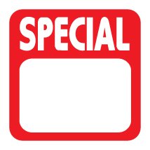 Special Pricing Label