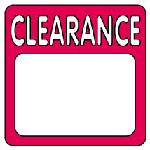 Clearance Pricing Label