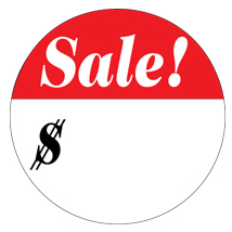 3/4 In. Sale Label