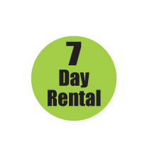 "7 Day Rental 3/4"" Labels"