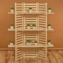 3 Shelf Wooden Panel Display Rack