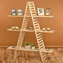3 Shelf Wooden A-Frame Rack