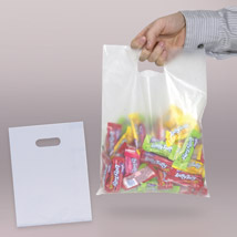 Frosted Clear Plastic Merchandise Bags