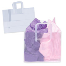 Frosted Clear Plastic Shopping Bags