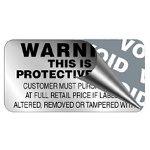 Silver Foil Security Labels