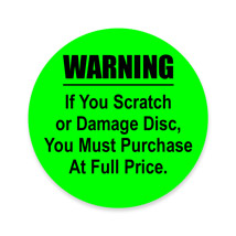 "1"" DVD Care Label (300/Roll)"