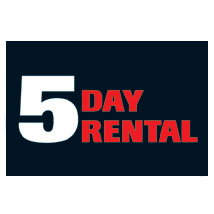 5 Day Rental Label