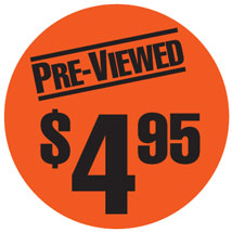 "$4.95"" Pre-Viewed Label"