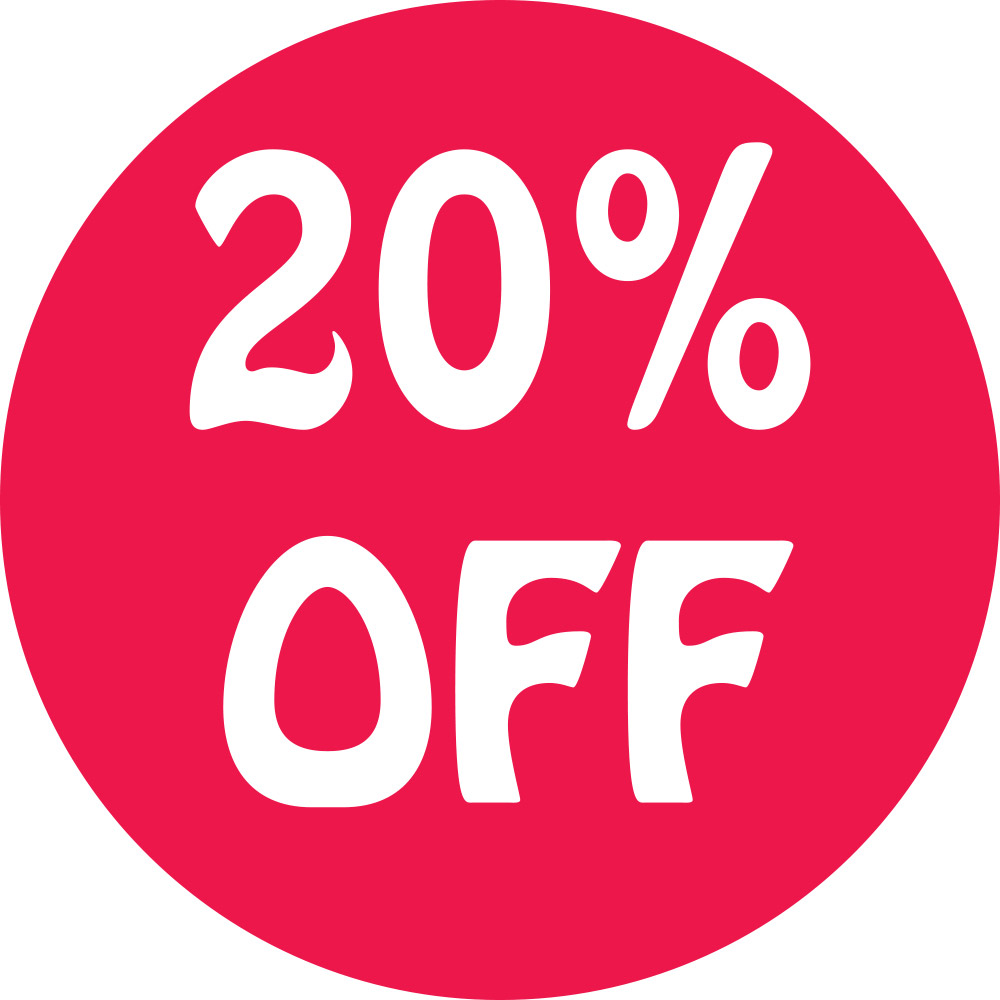 20% Off Preprinted Labels