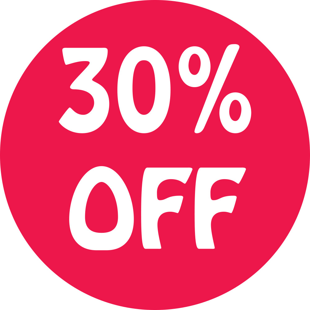 30% Off Preprinted Labels