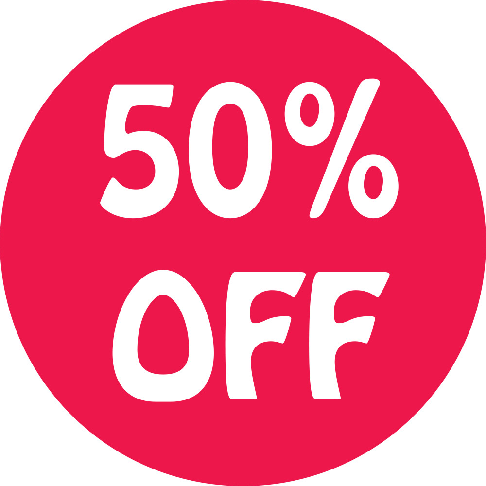 50% Off Preprinted Labels