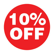 10% Off  Preprinted Labels