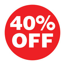 40% Off Preprinted Labels