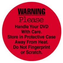 "1 1/2"" Round DVD Care Label"