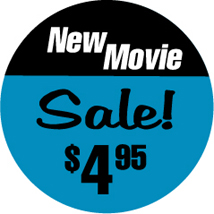 "$9.99"" New Movie Label, Green"