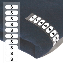 Size S Wrap Around CLOTHING Labels