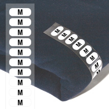 Size M Wrap Around CLOTHING Labels