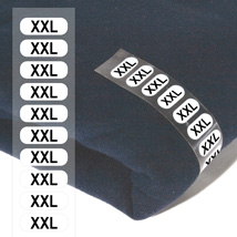 Size Xxl Wrap Around Clothing Labels