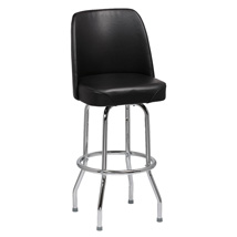 Bar Stool With Black Vinyl Bucket Seat - Restaurant Seating